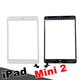 Apple Mini Connector Australia - 1Pcs 100% New Touch Screen Glass Panel with Digitizer with ic Connector Buttons for iPad Mini 2