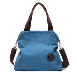 Purses Tote Bags NZ - 2018 New Fashion Large Capacity Canvas Women Handbags Shoulder Crossbody Tote Bag Female Purses Top-Handle Bag Bolsa Feminina