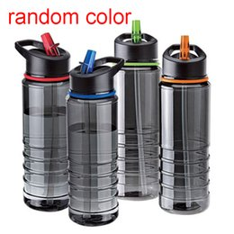 water bottles new straws 2019 - Wholesale- New Hot Sales Flip Straw Tritan Drinks Bottle Cup Sport Hydration Water Bottle For Cycling Hiking Caming Drin