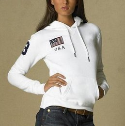 Purple Polo Hoodie Australia - Offer Women Polo Hoodies USA France Italy Country Flag Jogging Sweatshirts With Horse Sports Coats Hooded Jacket S-XL
