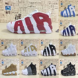lowest price 4d3a8 ae188 New Arrival Air Mehr Uptempo QS Olympic Varsity Maroon Weiß Schwarz  Laufschuhe Herren Basketball Schuhe Airs 3 Mt Scottie Sneakers