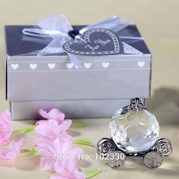 crystal collection favors Australia - wholesale hot 100pcs Transparent Crystal Collection Cinderella Pumpkin Carriage Wedding Favors And Gift Crystal Wedding Centerpiece