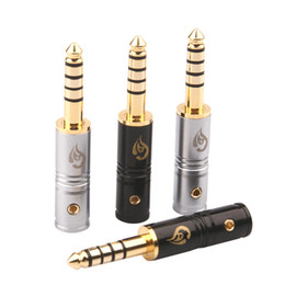 3.5 audio adapter Canada - 4.4mm 5pole Audio Plug Speaker Connector Adapter Plug 3.5 Gold Plated Welded Connector Audio DIY AUX 4.4mm Male Plug