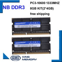 Discount ram for laptop 8gb 3 KEMBONA laptop ddr3 1333mhz 8GB (Kit of 2X4GB ) 3 PC3-12800s 1.5V So-DIMM 204Pins Memory Module Ram Memoria for
