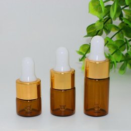 $enCountryForm.capitalKeyWord NZ - Mini 1ml 2ml 3ml Empty Amber Glass Essential Oil Dropper Bottles Brown Glass Vials With Pure Glass Dropper Perfume Sample Tubes Vials