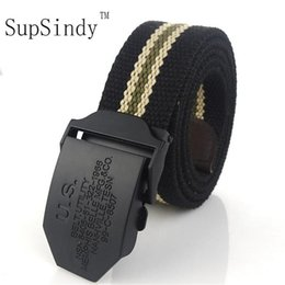 dark grey jeans for men NZ - SupSindy U.S men's Canvas belt Black Alloy buckle military belt Army tactical belts for Male top quality men strap for jeans