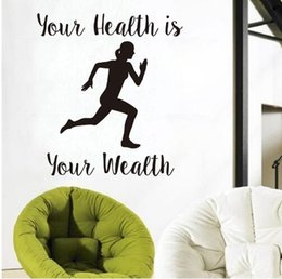 $enCountryForm.capitalKeyWord Canada - Free Your Health Is Your Wealth Running Woman Wall Stickers Home Decor Removable Sport Wall Decals Vinyl Wallpaper
