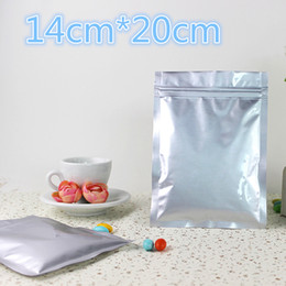 $enCountryForm.capitalKeyWord Australia - 14*20cm 50Pcs Lot Zipper Lock Ziplock Self Seal Pure Aluminum Foil Storage Packing Package Plastic Bags Mylar Poly Pack Pouches