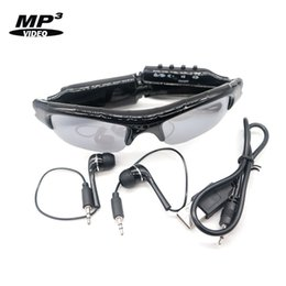 Video sunglasses online shopping - HD Mini Sunglasses Camera with MP3 Music Player Eyewear Sun Glasses DVR Portable Video Recorder Photo Taking with Earphone