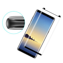 3d glasses pack online shopping - Screen Protector For Galaxy S9 S8 Plus D Curved Tempered Glass for Note S7 Edge Pack With Retail Package