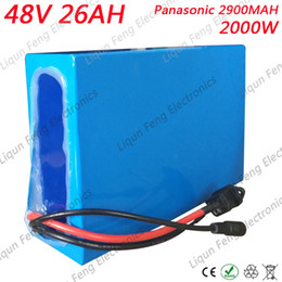 Discount used electric scooter - 2000W 48V 26AH Electric Bicycle battery 48V 26AH 48 Volt Scooter Battery Use for Panasonic 2900mah cell 50A BMS 2A Charg