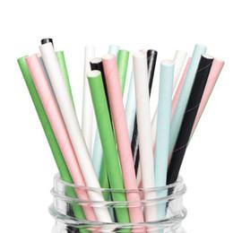 $enCountryForm.capitalKeyWord UK - Mixed Plain Pure Color White Black Pink Blue Paper Straw Birthday Wedding Decorative Party Individual Wrapped Bio-degradable Drinking Straws
