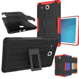 """Waterproof Hard Cases NZ - For Galaxy Tab Amor Heavy Duty Silicone Hard PC Shockproof Case Stand Tablet Cover For Samsung Galaxy Tab E 9.6 T560 T561 9.6"""""""