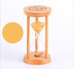 wholesale wood carving china 2018 - Creative 3 Mins Wooden Frame Sandglass Sand Glass Hourglass Time Counter Count Down Home Kitchen Timer Clock Decoration