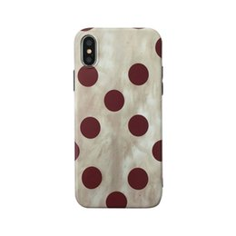 Circular Case Australia - For Iphone X Phone Cases Circular Wave Point Retro Wine Red Frosted Soft All-Inclusive Cell Phone Case For Iphone 6 7 8 Plus