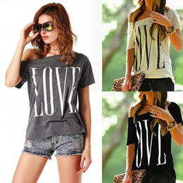 27d16a6356081 2018 Korean Style Summer Female T Shirts LOVE Letter printing Off The  Shoulder Top Tee Short Sleeve Women T Shirt Plus Size
