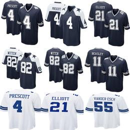 Dallas Jersey Cowboys 4 Dak Prescott 21 Ezekiel Elliott 50 Sean Lee 82  Jason Witte 11 Cole Beasley 90 Lawrence Vander Esch Emmitt Smith 55 e0442236a