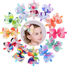 Discount nice girl hair accessories - 11 Colors Baby Headbands Headwear Children Nice Rainbow Infant Toddler Girl Headband Elastic Hairband Hair Band Accessor