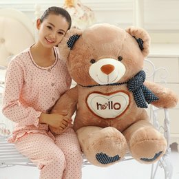 Wholesale 150cm Teddy Bear plush toy hello bear Stuffed Toys Children Girlfriends Lovers Gifts Christmas Birthday Valentine s Day Gift