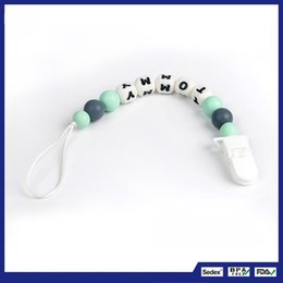 $enCountryForm.capitalKeyWord Canada - Baby Silicone Molar Chain Manual Teething Beads Nipple Long Tooth Period Pacifier Safe Food Grade Nursing Chewing 10yf Ww