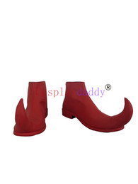 $enCountryForm.capitalKeyWord UK - LOL Shaco Red Halloween Clown Cosplay Shoes Boots H016
