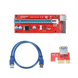Discount e sata usb - Best Price 6pcs USB 3.0 Extender Cable PCI-E Express 1X to 16X Extender Riser Adapter Card SATA 15pin Male to 6pin Power