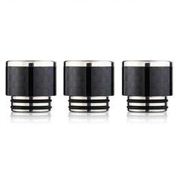 New Vape Pipes UK - Carbon Fiber drip tip black 810 wide bore pipe with stainless steel vape rda 810 tank driptip New inventions in china