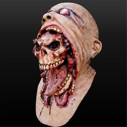 $enCountryForm.capitalKeyWord Australia - Halloween Bloody Scary Adult Zombie Mask Melting Face Latex Costume Walking Dead Cosplay Party Fancy Props