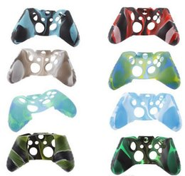 Soft Controller NZ - For Xone Soft Silicone Flexible Camouflage Rubber Skin Case Cover For Xbox One Slim Controller Grip Cover