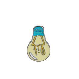 China Cartoon Enamel Brooch Lit Light Bulb Bag Denim Jacket Lapel Collar Pin Button Pin Badge Fashion Jewelry Gift For Kids Girl Boy suppliers