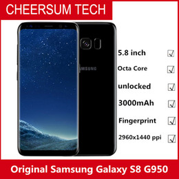 4g android mobiles 2019 - Original Samsung Galaxy S8 SM-G950 4G LTE Mobile phone 64GB 5.8 Inch Single Sim 12MP 3000mAh S-series Smartphone