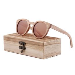 a7e75c5f09 Wood Sunglasses Brand Designer brown wooden sunglasses Style Round  SunGlasses Gafas Oculos Masculino oculos de sol feminino Dropshipping