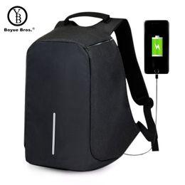 e219724c7efb0 USB Gebühr Diebstahl Rucksack Männer Reise Sicherheit Wasserdichte  Schultaschen College Teenage 15 Zoll Laptop Rucksack