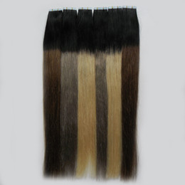 24 inch tape remy hair extensions online shopping - 10 quot Inches Tape In Extensions Ombre Non Remy Balayage Human Hair g Straight Ombre Skin Weft Hair Extensions
