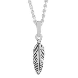 sterling feather pendant 2019 - Pandulaso Spiritual Feather Necklace Pendant Original sterling Silver Jewelry Fit Charms Bracelet & Bangle for woman DIY