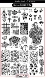 $enCountryForm.capitalKeyWord NZ - 9.5*14cm Nail Art Stamping Plate Flowers Butterfly Cartoon Manicure Nail Art Stamping Plates Kadou-D01-06 Template Image Plate