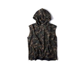 Wholesale New Men Summer Hooded Pullover Camouflage Oversized Fashion Sleeveless Male Hip hop High Quality Cotton Vest