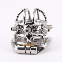 $enCountryForm.capitalKeyWord NZ - Stainless Steel Male Chastity device Adult Cock Cage Cock Ring BDSM Sex Toy Bondage Men Chastity Belt with 6 Screws