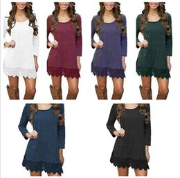 $enCountryForm.capitalKeyWord Canada - 50pcs Womens Warm Long Sleeve Jumper Tops Ladies Slim Knitted Sweater Solid Color Casual Mini Dress M175