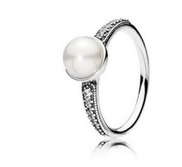 noble 925 silver pearl women's ring size 7 8 9 (3.8)