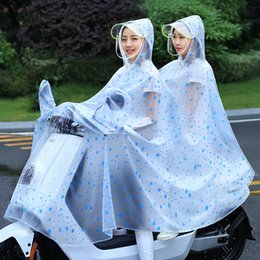 camp poncho NZ - Double raincoat single poncho electric car motorcycle tram transparent fashion