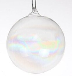 Clear Glass Christmas Ornament NZ - Promotion - Home Gardens Wedding Home Decoration Christmas Ornament Clear Glass 80mm Round Bauble Ball Decoration, 5 Pack