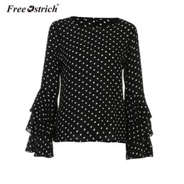 56a90c3d46ea Free Ostrich Fashion Sweet Ruffles Sleeve Blouse Women Polka Dot Chiffon  Long Sleeve Shirt Casual O-Neck Elegant Tops Blusas discount polka dot  blouse ...