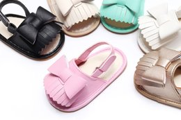 $enCountryForm.capitalKeyWord NZ - Summer baby girls sandals with rubber sole cute bow fringe Toddler Casual Crib Shoes 2018 New kids sandals