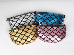 Bags Fish Scale NZ - hot sale Mermaid Evening Bags Waist Bag Fish scales Purse women Makeup Bags cartoon Messenger bag Mermaid Shoulder Bags