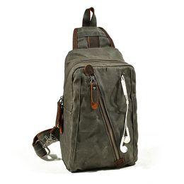 d8312aee2339 Vintage Chest Bag for men Travel Canvas Mini Crossbody Multi-function  Outdoor Sling Waterproof Canvas Bag Outdoor Sports Sling Bag Running C
