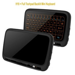 wireless keyboard touchpad for tv Australia - Epro 2.4Ghz H18 Backlit Mini Wireless Keyboard Full Screen f ly Air Mouse Touchpad Combos Remote Control l for PC Android TV Box S905W S912