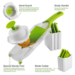 Cutter vegetable diCer online shopping - Eco Friendly Mandoline Slicer Vegetables Cutter With Stainless Steel Blade Carrot Grater Onion Dicer Slicer Kitchen Accessories