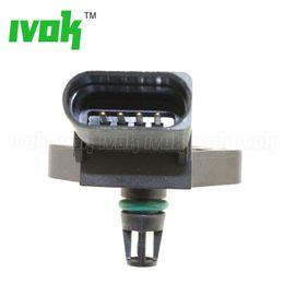 Bar Map Sensor Australia - 2.5 Bar Boost Pressure MAP Sensor For Audi A1 A2 A3 A4 A6 A8 1.4 1.9 2.5 2.7 3.0 TDI 038906051B 038 906 051 B 0281002399 0 281 002 399 82159