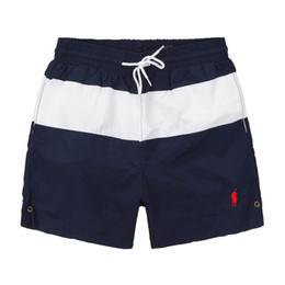Swimwear hot Sport online shopping - 2019 Summer Swimwear Beach Pants Mens Board Shorts Black Men Surf Shorts Small Horse Swim Trunks Sport Shorts de bain homme M XL Hot